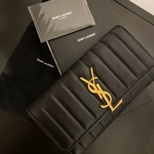 Yves Saint Laurent Vicky Quilted Large Wallet